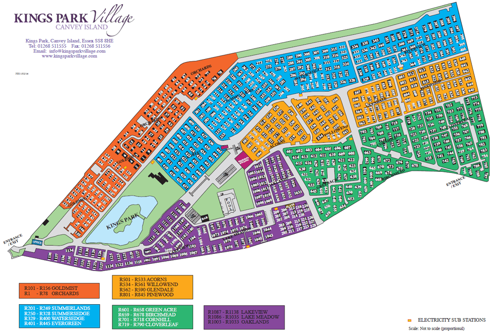 Map of Kings Park Village