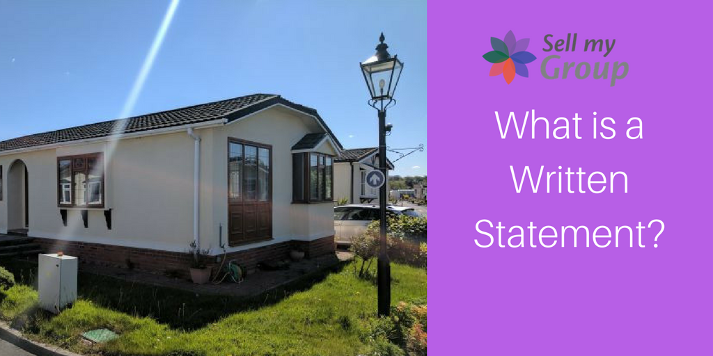What Is A Written Statement For Park Homes