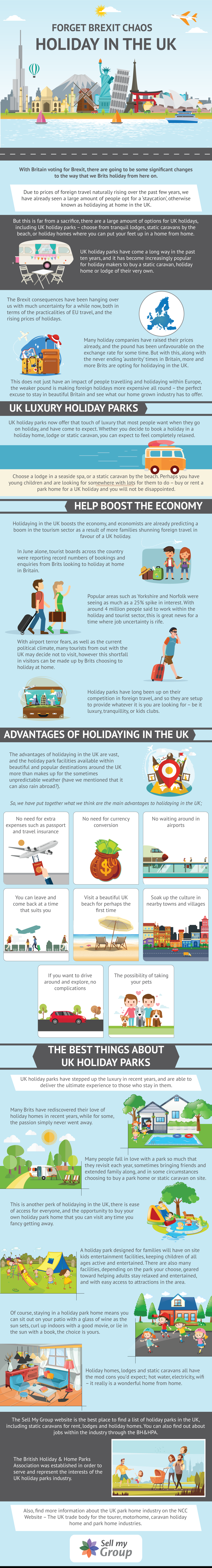 Forget Brexit Chaos - Holiday in the UK Infographic