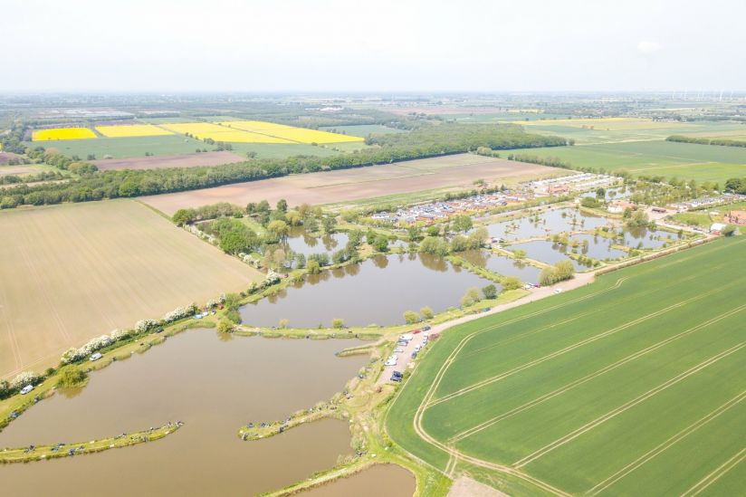 Lindholme Lakes, Epworth aerial view